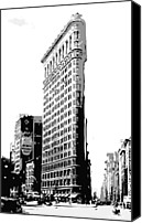 The City That Never Sleeps Canvas Prints - Flatiron Building BW3 Canvas Print by Scott Kelley