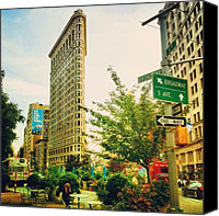 Nyc Canvas Prints - Flatiron Canvas Print by Luke Kingma