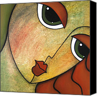 Faces Drawings Canvas Prints - Flawless Canvas Print by Tom Fedro - Fidostudio