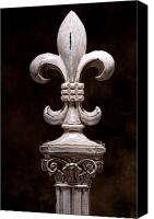 Column Canvas Prints - Fleur de Lis IV Canvas Print by Tom Mc Nemar