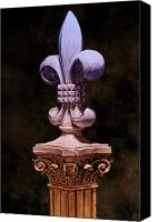 Column Canvas Prints - Fleur de Lis V Canvas Print by Tom Mc Nemar