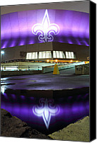 Football Canvas Prints - Fleur di Lis Reflected Canvas Print by Pixel Perfect by Michael Moore