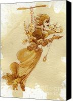 Steampunk Canvas Prints - Flight Canvas Print by Brian Kesinger