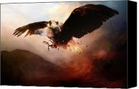 Safety Canvas Prints - Flight of the Eagle Canvas Print by Karen Koski