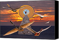 Rocks Canvas Prints - Flight Of The Guitars Canvas Print by Eric Kempson