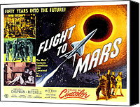 1950s Movies Canvas Prints - Flight To Mars, 1951 Canvas Print by Everett