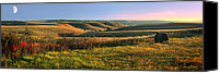 Green Canvas Prints - Flint Hills Shadow Dance Canvas Print by Rod Seel