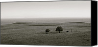 Toto Canvas Prints - Flint Hills Vista II Canvas Print by Thomas Bomstad