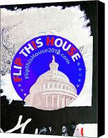 Democrats Digital Art Canvas Prints - Flip This House Canvas Print by Stephen Peace