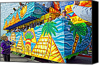 Asking Canvas Prints - Floating Thru Mardi Gras 2 Canvas Print by Steve Harrington