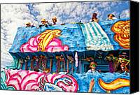 Asking Canvas Prints - Floating Thru Mardi Gras Canvas Print by Steve Harrington