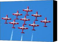 Team Canvas Prints - Flock of Snowbirds Canvas Print by Garry Staranchuk