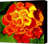 Flower Photograph Canvas Prints - Flora Rebare Bella Canvas Print by Robert OP Parrish