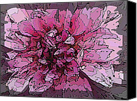 Mosaic Canvas Prints - Floral Mosaic Canvas Print by Tim Allen