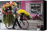 Vietnam Canvas Prints - Floral ride Canvas Print by Marion Galt