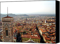 Tuscany Canvas Prints - Florece View From The Top Of The Dome Canvas Print by Francisco Goncalves