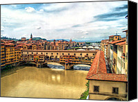 Fierenze Canvas Prints - Florence Bridges II Canvas Print by C H Apperson