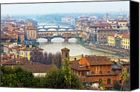 Arch Bridge Canvas Prints - Florence Italy Canvas Print by Photography By Spintheday