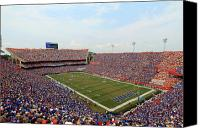 Griffin Canvas Prints - Florida  Ben Hill Griffin Stadium on Game Day Canvas Print by Getty Images