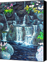 Diane Hewitt Canvas Prints - Florida Botanical Waterfalls Canvas Print by Diane Hewitt
