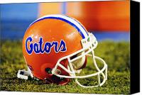 Team Canvas Prints - Florida Gators Football Helmet Canvas Print by Getty Images