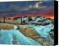 Sand Fences Canvas Prints - Florida Mountain Canvas Print by Joetta West
