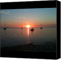 Beach Canvas Prints - Florida Sunset Canvas Print by Bill Cannon