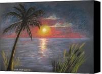 Tropical Sunset Pastels Canvas Prints - Florida Sunset Canvas Print by Larry Whitler
