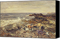 Storm Painting Canvas Prints - Flotsam and Jetsam Canvas Print by William McTaggart