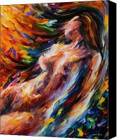 Art Nude Canvas Prints - Flow Of Love Canvas Print by Leonid Afremov