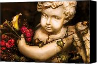 Cherub Canvas Prints - Flower - Rose - The Cherub  Canvas Print by Mike Savad