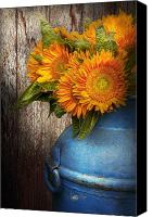 Gardener Canvas Prints - Flower - Sunflower - Country Sunshine Canvas Print by Mike Savad