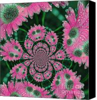 Flower Design Canvas Prints - Flower Design Canvas Print by Karol  Livote