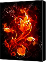 On Fire Canvas Prints - Flower of Fire Canvas Print by Pamela Johnson