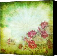 Materials Canvas Prints - Flower Pattern On Paper Canvas Print by Setsiri Silapasuwanchai
