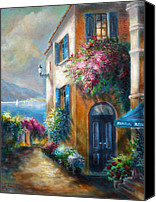 Contry Canvas Prints - Flower shop by the Sea Canvas Print by Gina Femrite