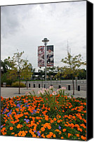 Baseball Parks Canvas Prints - Flowers At Citi Field Canvas Print by Rob Hans