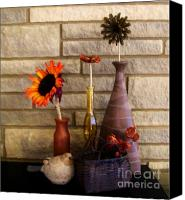 Stone Posters Canvas Prints - Flowers Of All Kind Canvas Print by Marsha Heiken