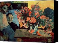 Tiare Painting Canvas Prints - Flowers of France Canvas Print by Paul Gauguin