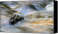 Upper Canvas Prints - Flowing Water Canvas Print by Adam Romanowicz