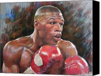 Boxer Pastels Canvas Prints - Floyd Mayweather Jr Canvas Print by Ylli Haruni