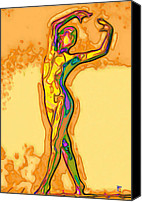 Dancer Digital Art Canvas Prints - Fluid Canvas Print by Byron Fli Walker