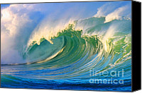 Surf Art Canvas Prints - Fluid Combustion Canvas Print by Paul Topp