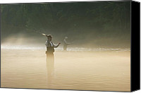 Arkansas Canvas Prints - Fly Fishing  Canvas Print by Betty LaRue