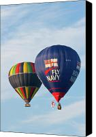 Hot Air Balloons Canvas Prints - Fly Navy Canvas Print by Brian Roscorla
