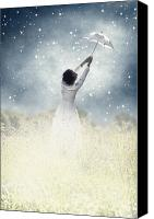 Surreal Canvas Prints - Flying away Canvas Print by Joana Kruse