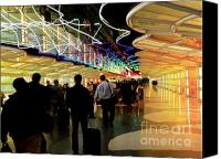 Airport Concourse Canvas Prints - Flying Through OHare - 2 Canvas Print by David Bearden