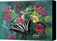 Zebra Pastels Canvas Prints - Flying Zebra Canvas Print by Shirley Leswick