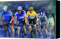 Tour De France Canvas Prints - Focus on Yellow Canvas Print by Shirley  Peters