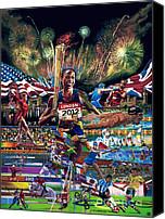 Sports Art Painting Canvas Prints - Focusing On Gold Canvas Print by Sean OConnor